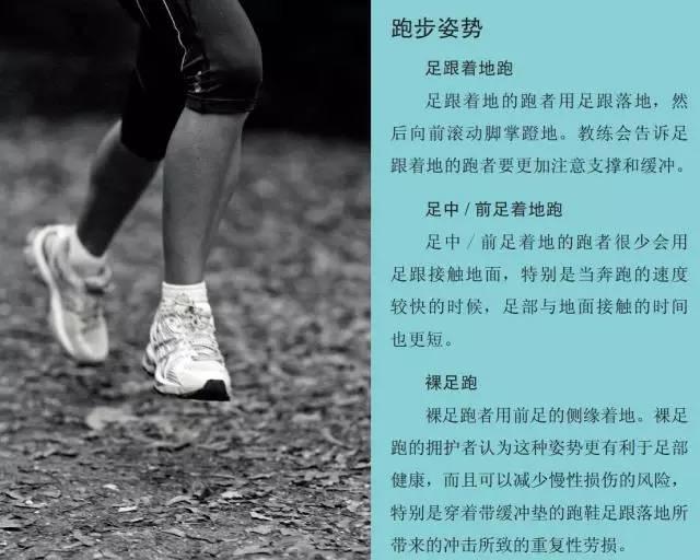跑步的距离和速度也对跑步的动作有影响。短距离、快速的奔跑需要更具爆发力的跑步动作——每一步落地都要把身体推向前方,腓肠肌、股四头肌、腘绳肌和臀肌都要足够强壮才能完成短距离中的剧烈动作。与此相反,长距离跑更重视动作的效率以及避免疲劳和肌肉的劳损与拉伤。