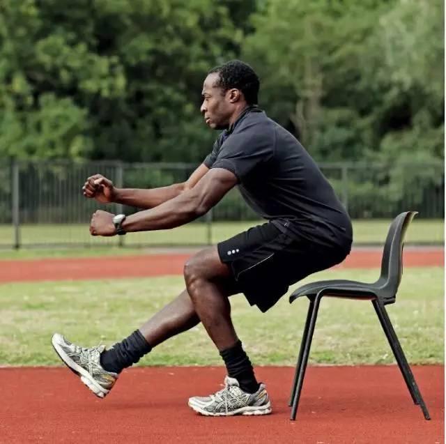 结果● 无法站起来意味着臀部和/ 或股四头肌或下背部力量薄弱 单腿测试开始时坐在一张差不多和膝盖同高的椅子上。把一条腿抬离地面,然后试着只用一条腿站起来。