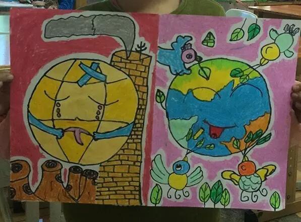 宝贝画天气:儿童眼中的天气气候与未来世界(组图)图片