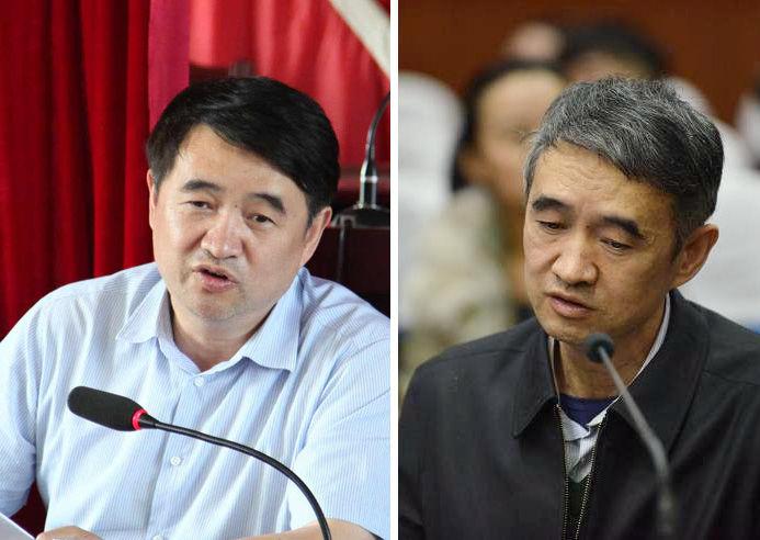 左图:担任遵义市委书记期间的廖少华。