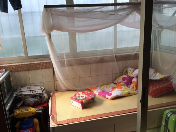 区伯睡的阳台。