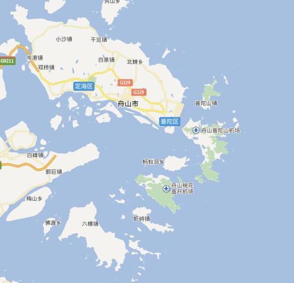 舟山桃花岛位置示意图