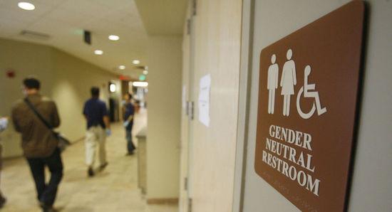 美国佛蒙特大学的一个中性厕所标识