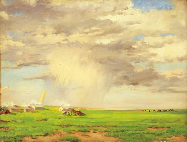 对比用风景-草原云雨.