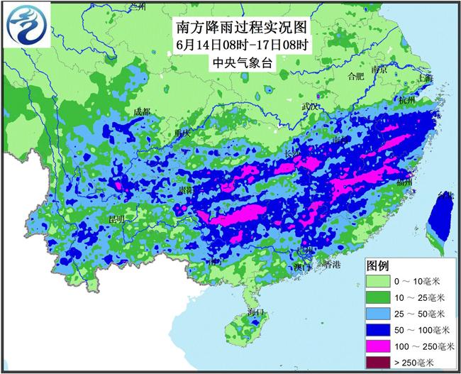 中国南方地区图