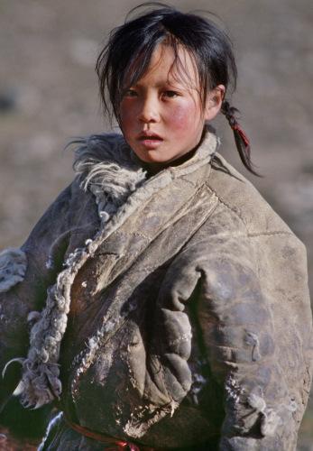 朱宪民作品《藏族小姑娘》 来源 朱宪民提供
