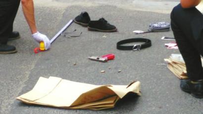 警方缴获的自制手枪。