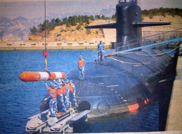 原文配图:网传《人民海军报》刊发的093B多用途核潜艇照片。