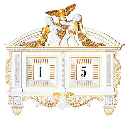 森帕歌剧院的五分钟数字钟