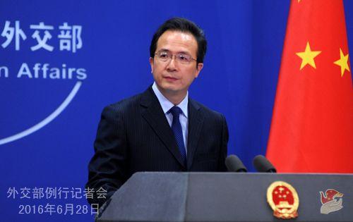 人民网北京6月28日电据外交部网站消息,外交部发言人洪磊28日主持例行记者会,就日方对南海问题言论、俄土关系、中印关系等答记者问。