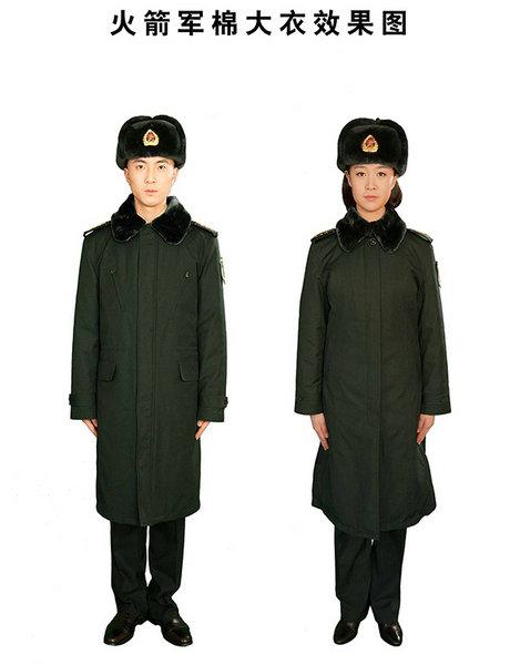 07式军大衣-火箭军换发新式礼 常 服 颜色调整设计图片