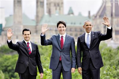 墨西哥总统涅托-北美领导人峰会在渥太华举行