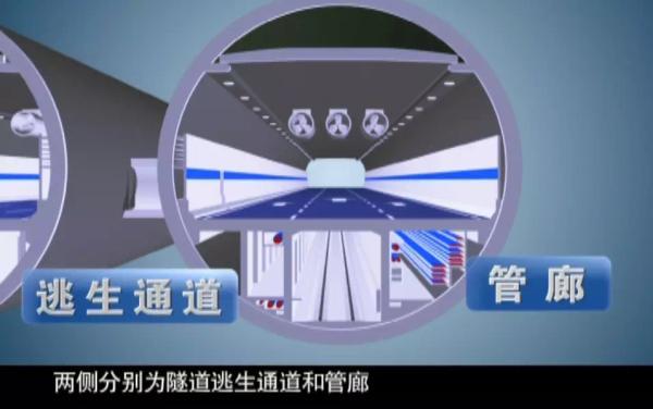 """透风是超长、特大地道火急需要处理的关键性成绩之一。长江地道是经过""""接力""""的方法,将富含氧气的新颖氛围,经过一台台射流风机的传接,倏地、实时地运送到地道各个旮旯。"""