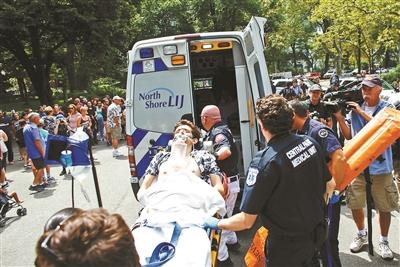 纽约中央公园发生爆炸 一人左腿重伤