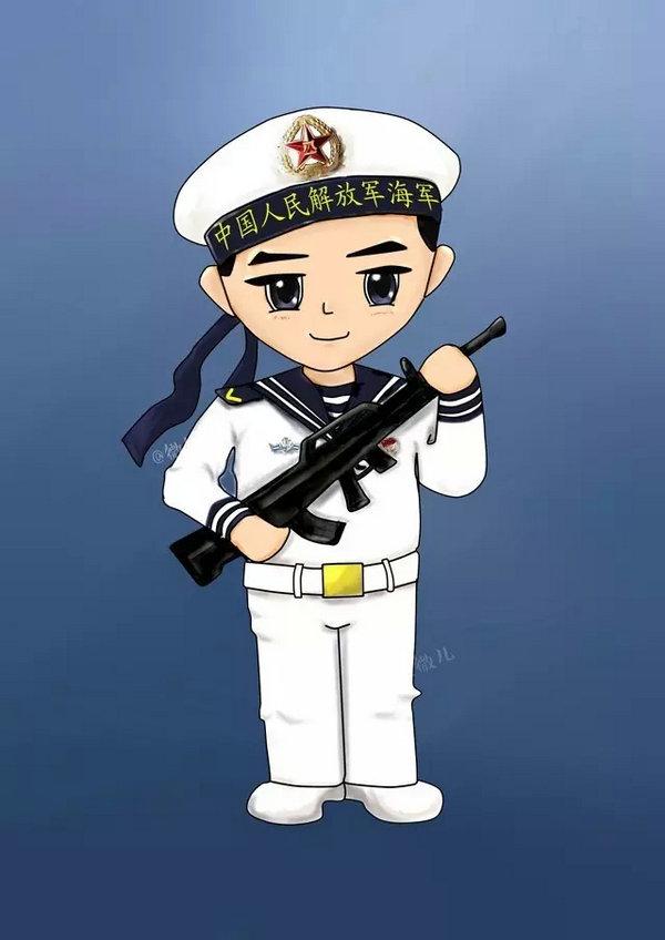 中国海军专用微信头像出炉 作者系美女士官