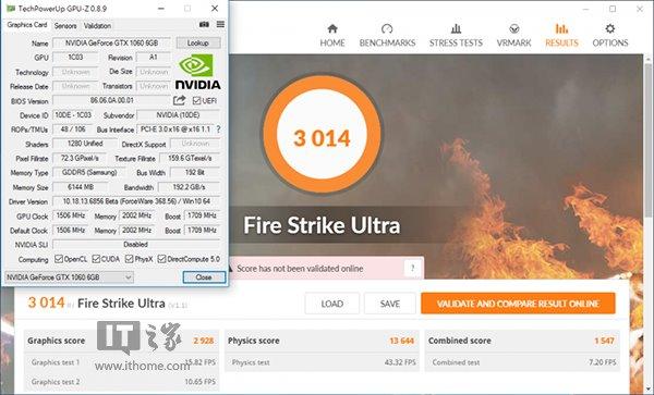 Nvidia GTX 1060 3DMark跑分曝光:略超RX 480
