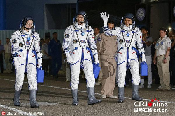 """6年7月7日,哈萨克斯拜科努尔发射场,""""联盟-MS""""新型载人飞船将图片"""
