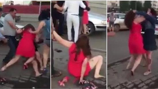 哈萨克斯坦醉酒男子街上打斗 男性无奈禁止