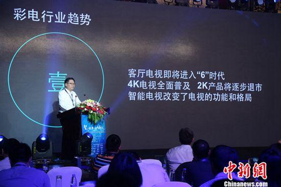 苏宁云商营销总部副总裁王哲现场发言