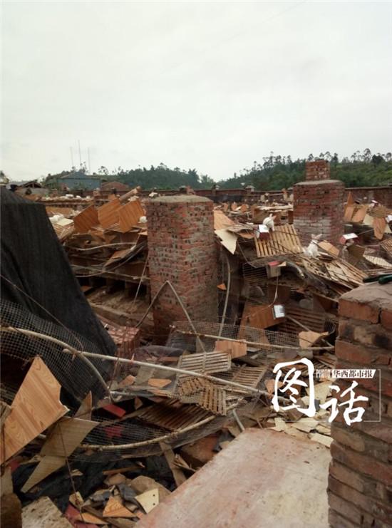 其中有5户民房坍塌,所幸无人员伤亡,造成直接经济损失500余万元.