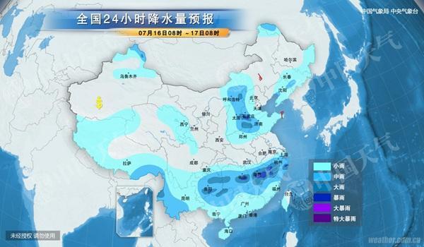 今天,雨带稳定在贵州至江南中北部一带。