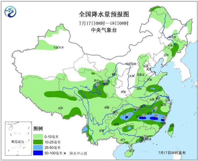 18日08时至19日08时,黄淮西部、江汉、江淮西部、江南北部、四川盆地大部、西北地区东部、云南西北部等地的部分地区有大雨或暴雨,其中,湖北西南部、四川盆地北部局地有大暴雨(100~140毫米);上述部分地区伴有短时强降水、雷暴大风或冰雹等强对流天气。