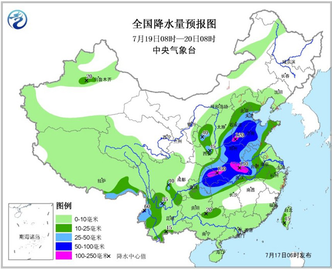 18日起长江以北大部将有强降雨过程