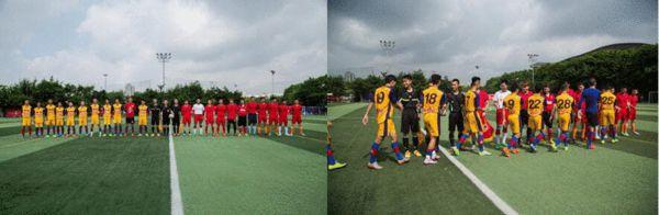热身赛红牛能量广州战队2-0 降雨难阻球员热情