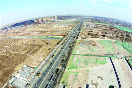 北上广常住人口增速放缓,这是北京城市副中心建设情况的航拍照片.