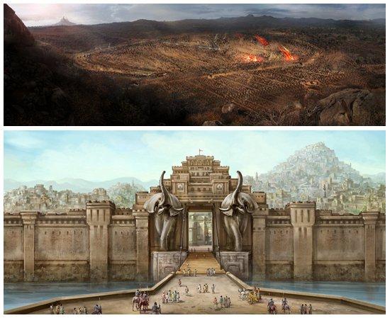《巴霍巴利王》发布视觉特辑 特效磅礴场景绝美