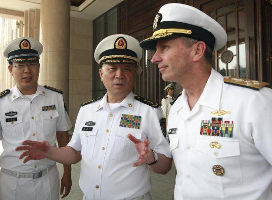 """演习结束,美国海军作战部长里查德森应邀来访,商谈美国海军如何""""有面子""""地怂的问题"""