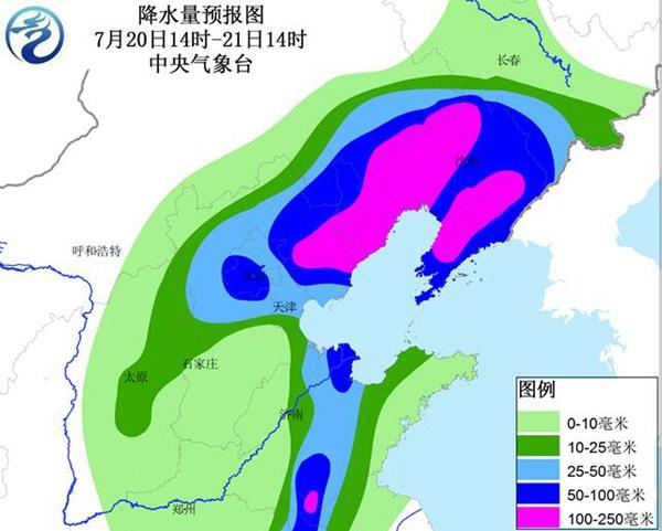 来日诰日白昼,华北降雨完毕,雨带搬运至东北。