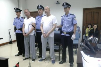 两被告人在法庭上认罪。京华时报记者郑羽佳摄