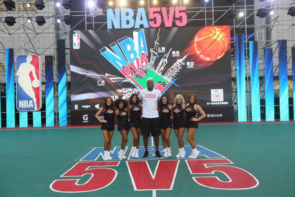 NBA5V5精英籃球賽南京開賽 莫寧湖人拉拉隊助陣