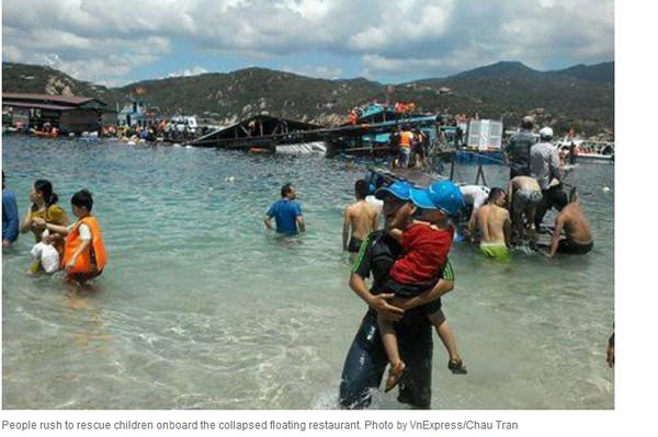 越南水上餐馆漂浮(图像来历于网站)