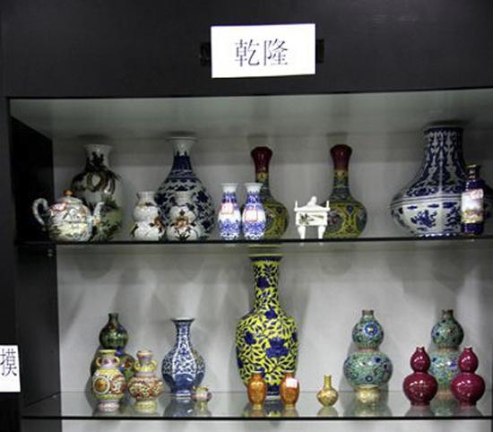 邱季端收藏的部分陶瓷器。