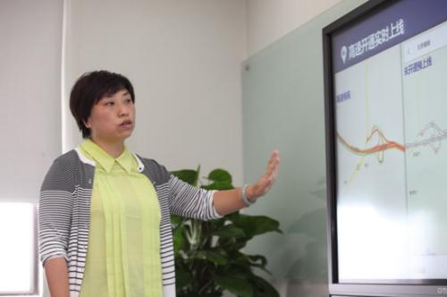 百度地图佛山分公司总经理吴泳现场讲解内业数据处理流程