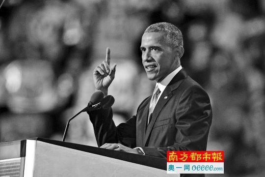 7月27日,在美国宾夕法尼亚州费城举行的美国民主党全国代表大会上,美国总统奥巴马发表演讲。 新华社