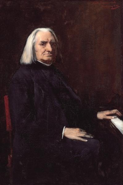 米哈伊 蒙卡奇创作的《李斯特肖像》(匈牙利国家美术馆藏)。