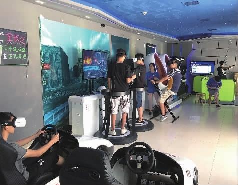 """长沙""""视不可挡""""VR体验馆每天都有不少玩家前来体验。"""