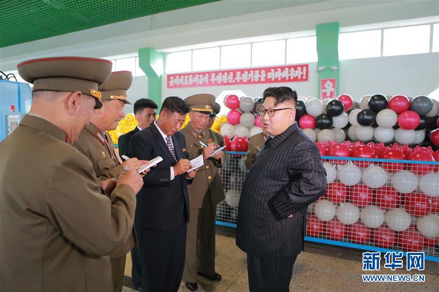 金正恩视察新建的朝鲜人民军综合渔具厂