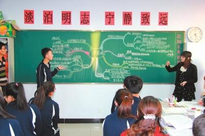 """涿鹿中学以""""三疑三探""""法进行的""""唯物辩证法矛盾观""""复习课。资料图片"""