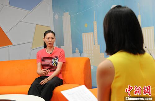 中国女排奥运冠军张萍。 中新网记者 富宇 摄