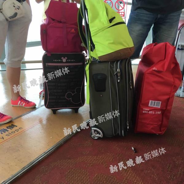 图说:旅客携带的超大件行李来源:网友供图