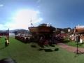 搜狐全景里约 探访瑞士之家草地餐桌似野营地