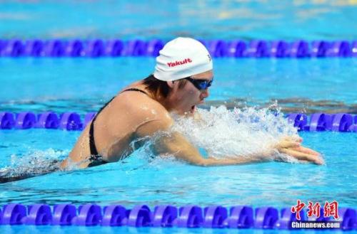 资料图:叶诗文在喀山国际泳联世锦赛上。 中新社发 侯宇 摄