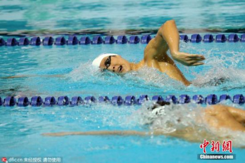 资料图:朴泰桓里约奥运会韩国国家队游泳选拔赛比赛中。图片来源:东方IC 版权
