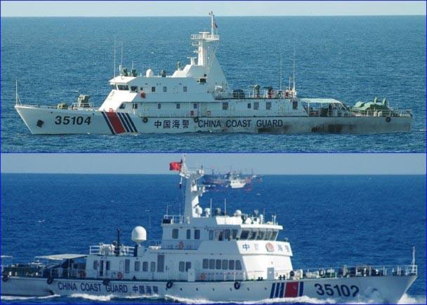 钓鱼岛中国海警船增至14艘 安倍称将与美国合作