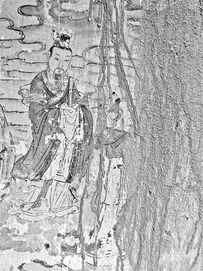 玉泉寺内宝贵岩画已被污泥笼罩