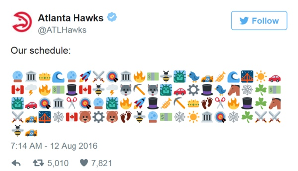 老鷹公布新賽季賽程  官推Emoji引球迷瘋狂猜圖